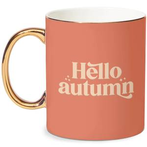 Hello Autumn Bone China Gold Handle Mug