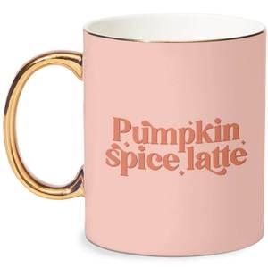 Pumpkin Spice Latte Bone China Gold Handle Mug