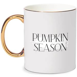 Pumpkin Season Bone China Gold Handle Mug