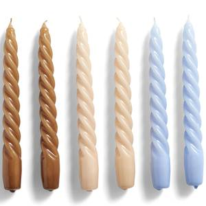 HAY Candle Twist Set of 6 - Caramel/Peach/Lavender