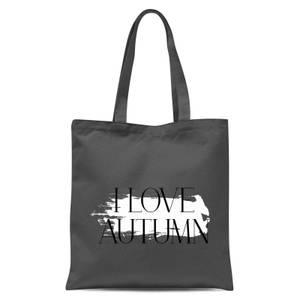 I Love Autumn Tote Bag - Grey