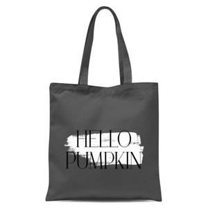 Hello Pumpkin Tote Bag - Grey