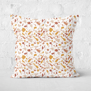 Autumnal Terrazzo Square Cushion