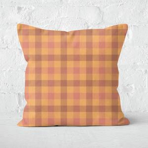 Autumn Tartan Square Cushion
