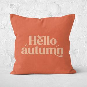 Hello Autumn Square Cushion