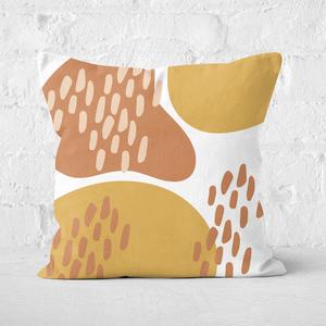 Autumn Shapes Square Cushion