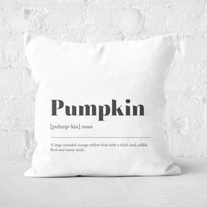 Pumpkin Definition Square Cushion