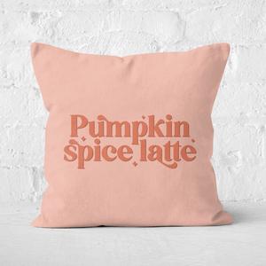 Pumpkin Spice Latte Square Cushion