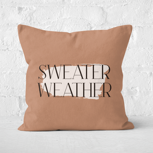 Sweater Weather Square Cushion