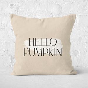 Hello Pumpkin Square Cushion