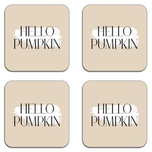 Hello Pumpkin Coaster Set