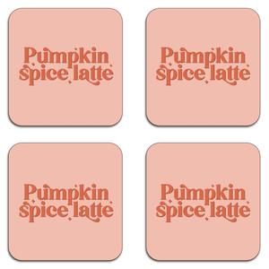 Pumpkin Spice Latte Coaster Set