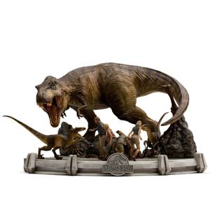 Iron Studios Jurassic Park Demi Art Scale Statue 1/20 The Final Scene 48 cm