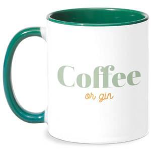 Coffee Or Gin Mug - White/Green