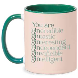 You Are Gin Credible Mug - White/Green