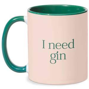 I Need Gin Mug - White/Green