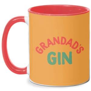 Grandad's Gin Mug - White/Red