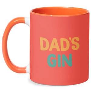 Dad's Gin Mug - White/Orange
