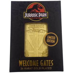Jurassic Park Gates 24K Gold Plated Ingot - Limited Edition