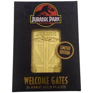 Jurassic Park Gates 24K Gold Plated Ingot - Limited Edition