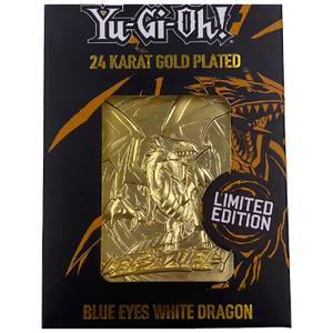 24K Gold Plated Yu-Gi-Oh! Blue Eyes White Dragon Card