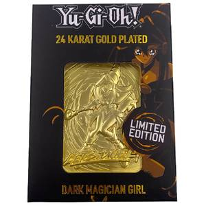 24K Gold Plated Yu-Gi-Oh! Dark Magician Girl Card