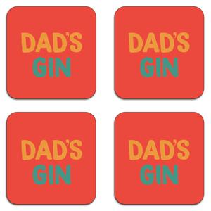 Dad's Gin Coaster Set
