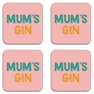 Mum's Gin Coaster Set