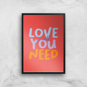 Love Is All You Need Giclee Art Print
