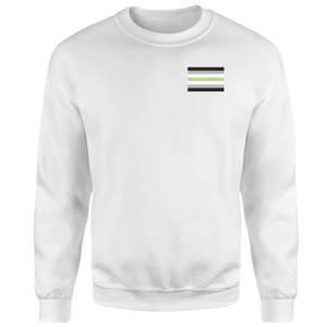 Agender Flag Sweatshirt - White