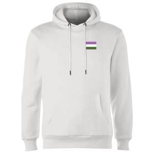 Genderqueer Flag Hoodie - White