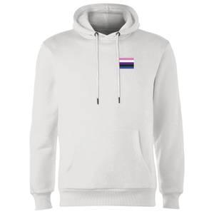 Genderfluid Flag Hoodie - White