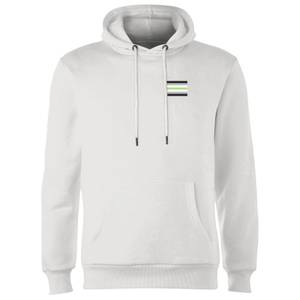Agender Flag Hoodie - White