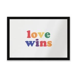 Love Wins Entrance Mat