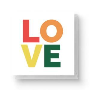 Love Square Greetings Card (14.8cm x 14.8cm)