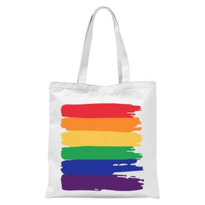 Pride Rainbow Paint Tote Bag - White