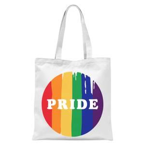 Pride Badge Tote Bag - White