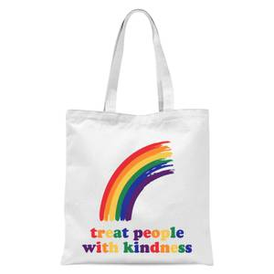 Treat People With Kindness Tote Bag - White