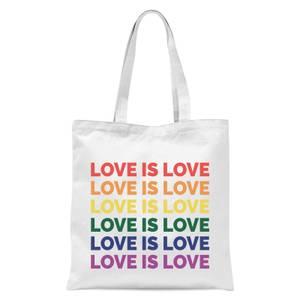 Love Is Love Tote Bag - White