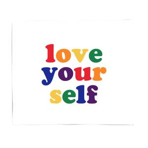 Love Yourself Fleece Blanket