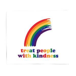 Treat People With Kindness Fleece Blanket