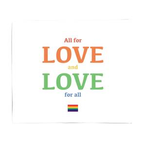 All For Love And Love For All Fleece Blanket