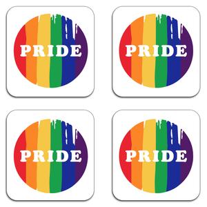Pride Badge Coaster Set