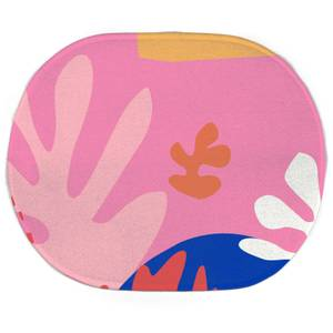 Colourful Abstract Oval Bath Mat