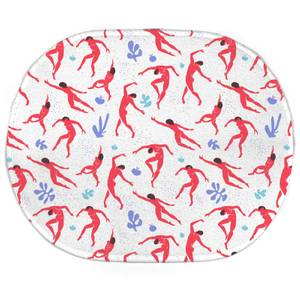 Dancing Silhouettes Oval Bath Mat