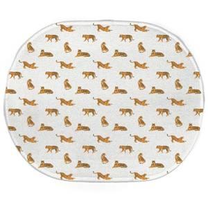 Earth Friendly Cheetahs Oval Bath Mat