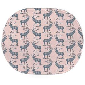 Earth Friendly Deer Oval Bath Mat