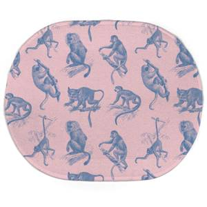 Earth Friendly Monkeys Oval Bath Mat