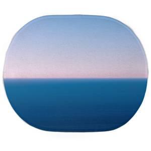 Earth Friendly Sunset Cool Tones Oval Bath Mat