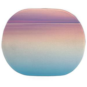 Earth Friendly Sunset Blue And Pink Oval Bath Mat